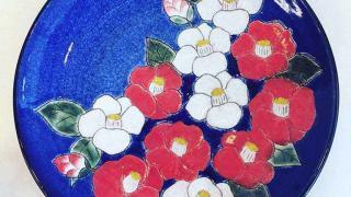 ベルベット絵皿
