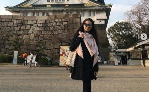 ザギトワ、先日の桜に続き大阪城をバックのインスタグラム