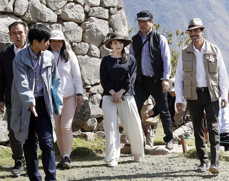 ペルーで世界遺産のマチュピチュ遺跡を視察される秋篠宮家の長女眞子さま