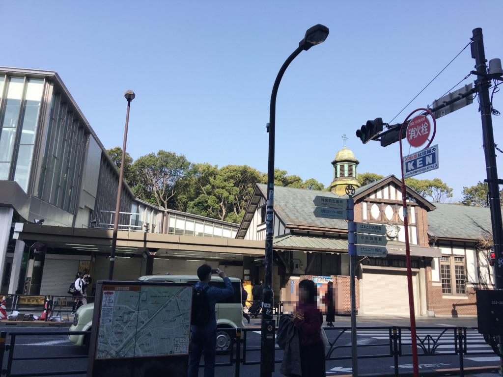 新旧原宿駅舎
